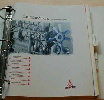 Deutz 1012 1013 Industrial Diesel Engine Parts Manual Book Catalog List Spare
