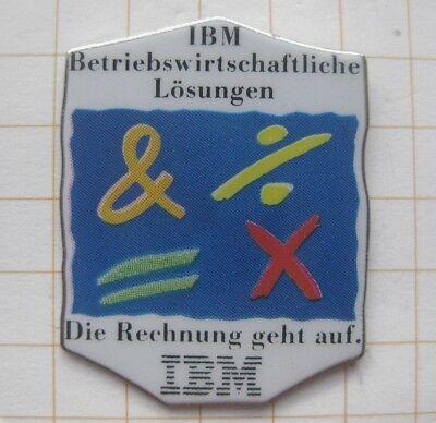 IBM / DIE RECHNUNG GEHT AUF.....................Computer Pin (143j)