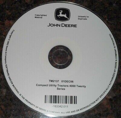 John Deere 4320 4520 4720 4120 Tractor Technical Repair Service Manual Cd Tm2137