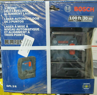 Bosch GPL 3 R 100ft 3-Point Self-Leveling Alignment Laser-NEW-FREE SHIPPING