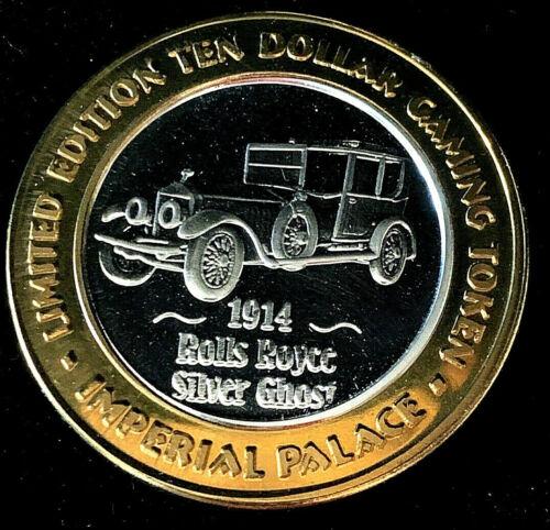 .999 $10 Silver Strike•Imperial Palace•Las Vegas•1914 Rolls Royce • Silver Ghost