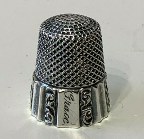 Antique Sterling Silver Thimble by ketcham & McDougall c.1880s Fluted Band