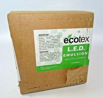 Ecotex L E D Textile Pure Photopolymer Screen Printing Emulsion Quart - 32 Oz.