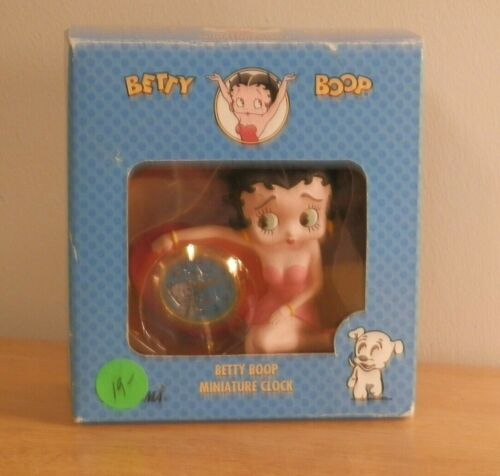 1995 Betty Boop Miniature Clock and Doll