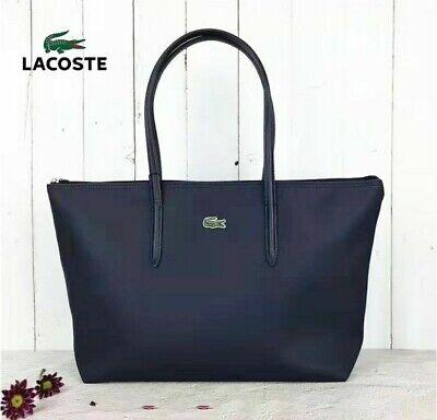 Bolso grande de mujer Lacoste. Color azul marino