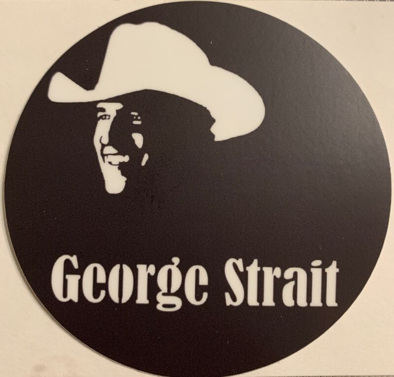 """George Strait King of Country Sticker For Skateboard Car Laptop Luggage Decal 3"""""""