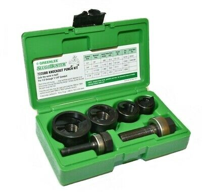 Greenlee Slug-buster 7235bb Knockout Punch Set 12 To 1-14 Conduit Size
