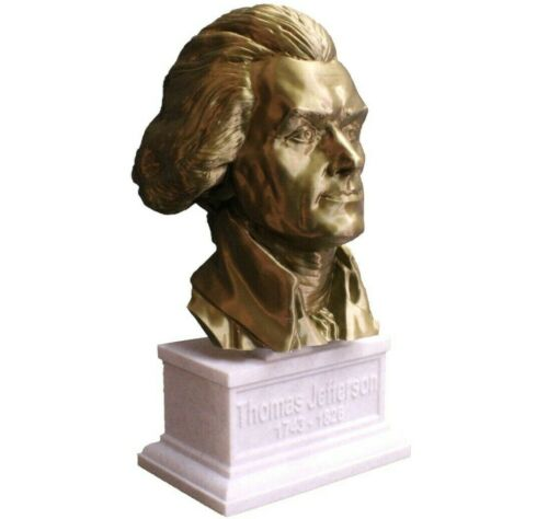 Thomas Jefferson 12 inch 3D Printed Bust US President #3 Art FREE SHIPPING