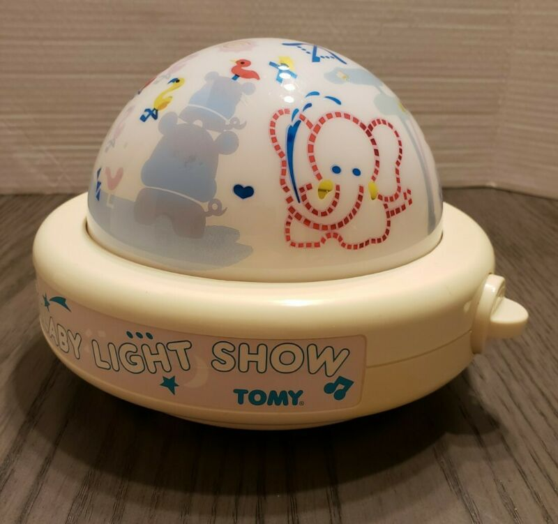 Tomy Lullaby Light Show 1987 Vtg. Baby Wind Up Night Light Musical WORKS GREAT
