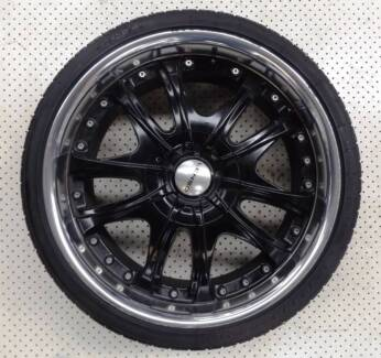 """20"""" LENSO MULTI STUD HOLDEN ALLOY WHEELS AND TYRES (USED) $550 Ferntree Gully Knox Area Preview"""