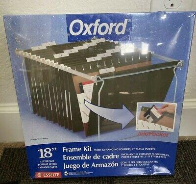 Oxford Steel Hanging File Folder Frame Kit 18 Inch Letter Size Sealed