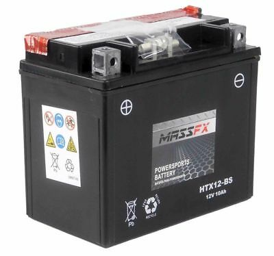 YTX12-BS MASSFX ATV Battery for Honda 250cc TRX250 FourTrax Recon 1997-2017