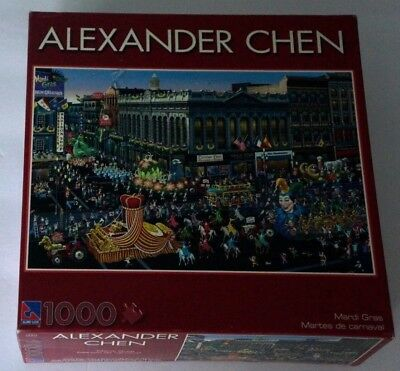 Alexander Chen MARDI GRAS 1000 Piece Brand NEW Factory Sealed Puzzle Unopened ()