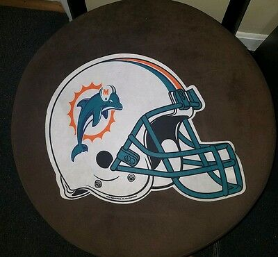(Miami Dolphins Die Cut Felt Pennant [NEW] NFL Sign Wall Man Cave Helmet)