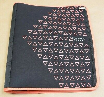 Five Star Zipper Binder 2 Inch 3 Ring Binder Xpanz Coral Triangles