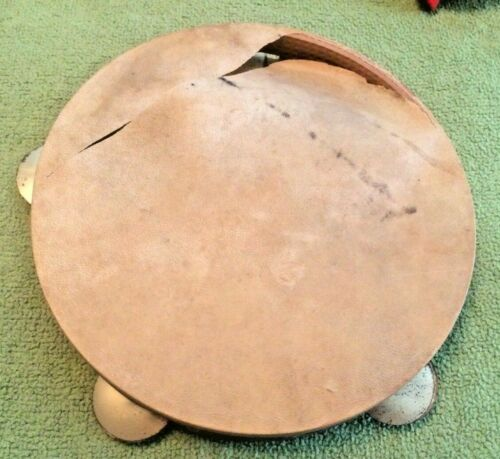 Antique Tambourine  Wooden Rare Collectible Music