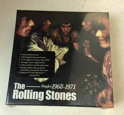 THE ROLLING STONES Singles 1968-1971 Limited 9 CD+DVD  Box Set New Sealed (The Rolling Stones Singles Box Set 1971)