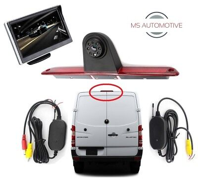 MERCEDES SPRINTER VW CRAFTER BRAKE LIGHT WIRELESS REVERSING REVERSE CAMERA 5 LCD