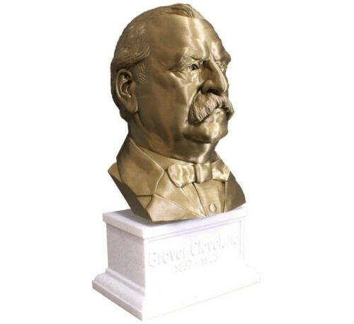 Grover Cleveland 12 inch 3D Printed Bust US President #22 Art FREE SHIPPING