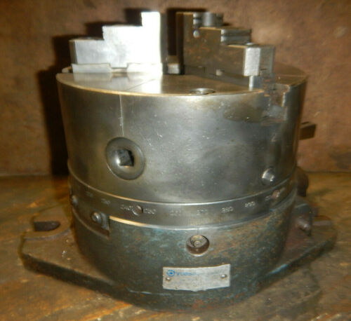 OLDER YUASA SUPER SPACER INDEX FIXTURE WITH 3 JAW CHUCK MACHINIST TOOL