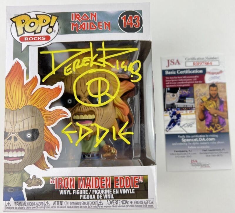DEREK RIGGS signed Funko POP Iron Maiden Eddie Mascot Artist Creator 143 JSA