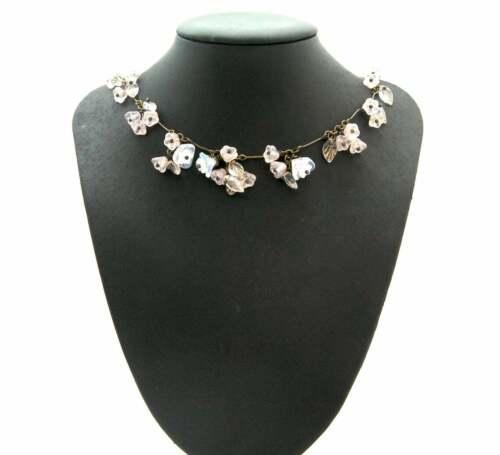 VINTAGE JEWELLERY BEAUTIFUL CZECH PALE ROSE FLOWER GLASS NECKLACE & EARRING SET