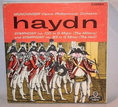 "7"" Reel Tape- Haydn Munchinger ~ Symphony No. 100  - 7.5 IPS Tested Box D"