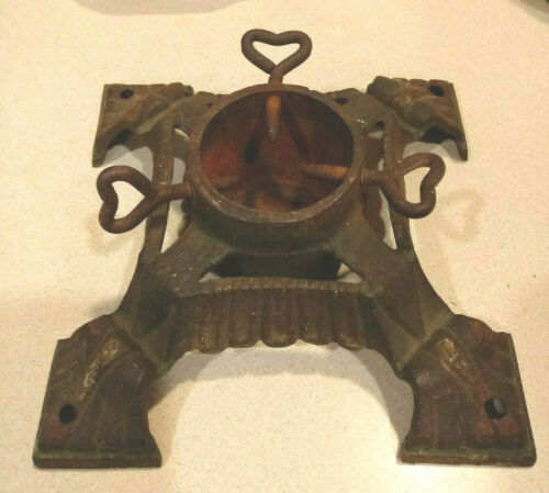 Vintage Ornate Cast Iron Small Christmas Tree Stand