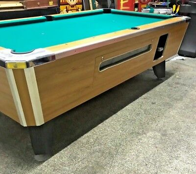 Valley Light Oak Coin Op Pool Table Slate ~ 4' x 8' NEW FELT  *PICK UP ONLY* VGC