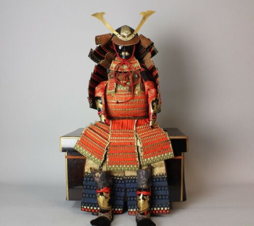 Excellent dated set of Doll Samurai Armor , Taisho 5 ,1916 S53