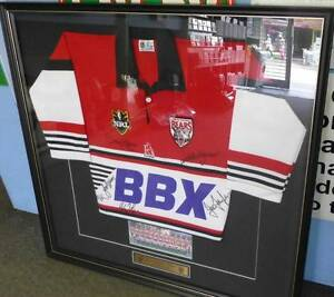 NORTH SYDNEY BEARS 1998 RUGBY LEAGUE SEASON FRAMED SIGNED JERSEY Campbelltown Campbelltown Area Preview