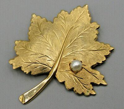HIGH END Vintage Jewelry Signed SARAH COV Maple Leaf BROOCH PIN Rhinestone Lot K Maple Leaf Brooch