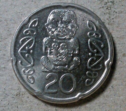 New Zealand 20 cents 2008 maori carving