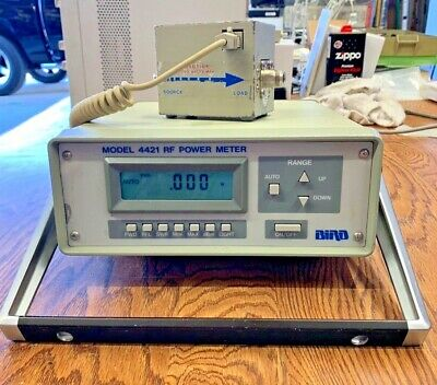 Bird 4421 Rf Power Meter And 4021 Power Sensor And Cord.