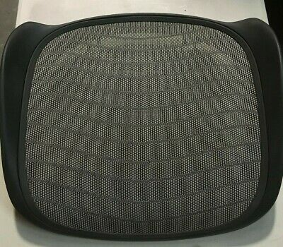 Herman Miller Aeron Chair Seat Pan 4e03 Graphite Medium Size B Wave Platinum Oem