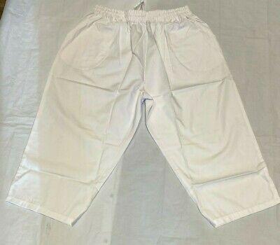 ADAR Scrubs Capri pants medical dental nurse 3XL elastic waist White 3XL #508 Capri Nursing Pants