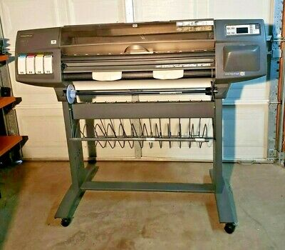 Hewlett-packard Hp C6075b Designjet Printerplotter 1055cm Plus Inkjet