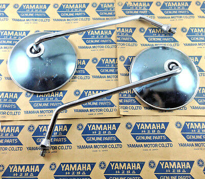 YAMAHA YL2 L2 YB100 YB125 F5 FS1 YG5 YA6 YA7 DX100 AS2 YAS1 MIRROR 8mm NOS Pair for sale  Shipping to Canada