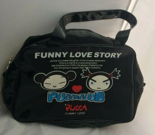 PuccaClub Pucca Caru Purse Funny Love Story Vinyl Tote Silver Fob Zipper