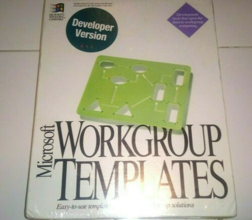 Vintage NEW SEALED Microsoft Workgroup Templates Developer Version 1993 Software