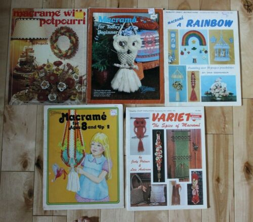 5 Macrame Project Books..Macrame for Today Beginner, Ma