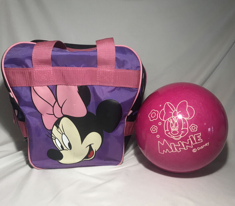 Brunswick Minnie Mouse Disney Pink Sparkle Bowling Ball Bag Girls 7lb Undrilled