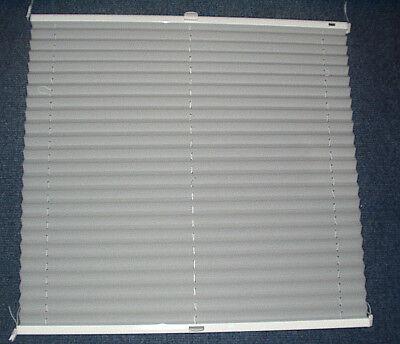 MHZ Sonnenschutz Plissee 674 x 750 mm Silbergrau  frei verschiebbar