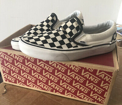 Vans Unisex Checkerboard Classic Slip-on Shoes Size UK 5