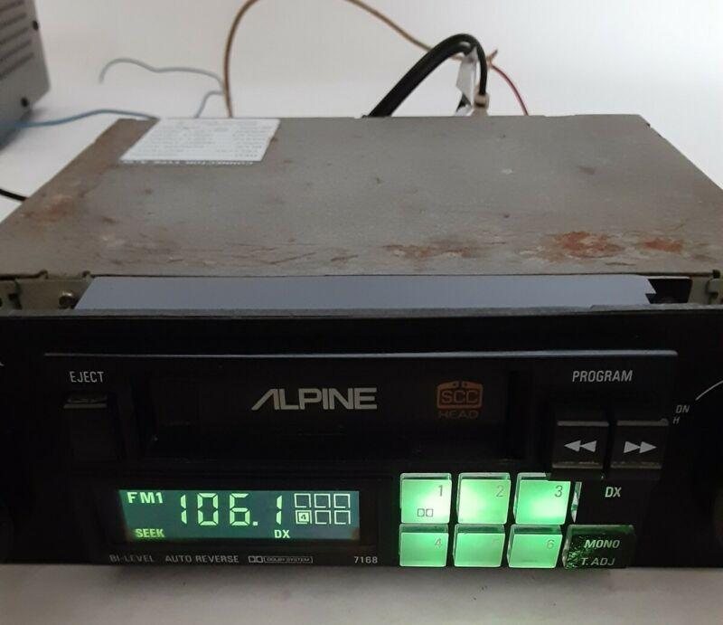 Old School Alpine 7168 Car AM/FM Stereo Cassette Deck Vintage 1980s