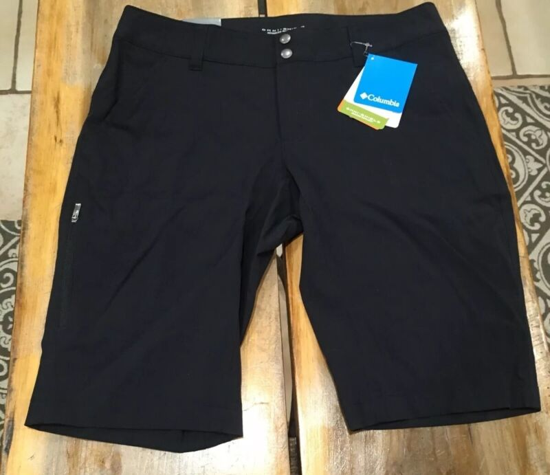 Columbia Saturday Trail Long Short Size 10 Inseam 12 Active Fit Black NWT