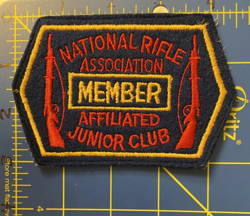 Vintage National Rifle Association Affiliated Junior Club Member Patch NRA Guns