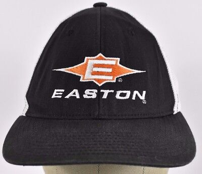 Black Easton Sports Baseball Gear Logo Embroidered Trucker hat cap Fitted