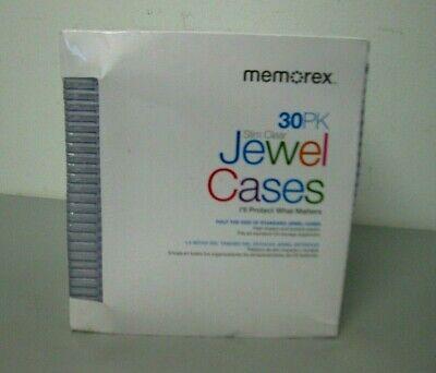 Memorex Slim Clear Jewel CD DVD Case 30 Pack New  (Memorex Slim)