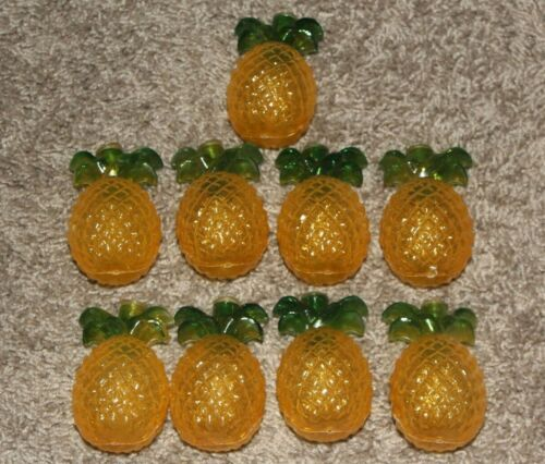 Lot of 7 Yellow and Green Pineapple Vintage Party String Light Covers